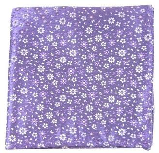 Tie Bar Milligan Flowers Lavender Pocket Square
