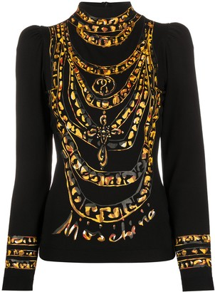 Moschino Necklace Print Top