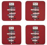 Harrods Signpost Coasters (Set of 4)