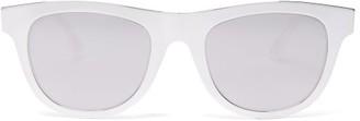 Bottega Veneta Mirrored Round Metal Sunglasses - Silver