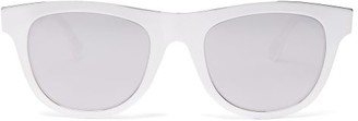 Bottega Veneta Mirrored Round Metal Sunglasses - Womens - Silver