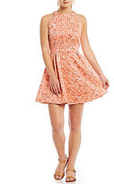 Copper Key Floral-Printed Sleeveless Fit-and-Flare Dress