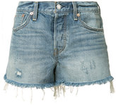 Levi's distressed denim shorts - women - Cotton - 24