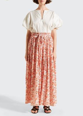 Lee Mathews Bree Silk Long Skirt