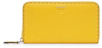 Fendi Stitch-Detail Zip-Around Wallet