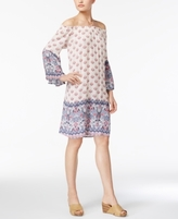 Style&Co. Style & Co Style & Co Petite Printed Off-The-Shoulder Dress, Created for Macy's
