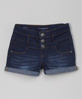 Vigoss Blue-Blood Cuffed High-Waist Denim Shorts - Tween