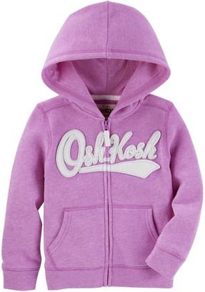 Osh Kosh OshKosh Girls' Toddler Full Zip Logo Hoodie
