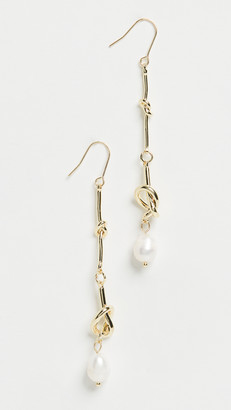 Jules Smith Designs Pearl Dangle Knot Earrings