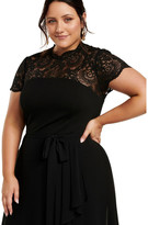 Forever New Curve Lilly Lace Bodice 2-In-1 Dress