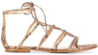 Gianvito Rossi Snake-Effect Sandals