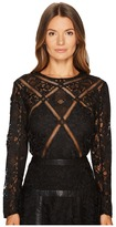 The Kooples Long Sleeve Lace Top Women's Clothing