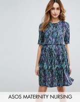 ASOS Maternity - Nursing ASOS Maternity NURSING Print Double Layer Dress