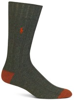 Polo Ralph Lauren Contrast Color Block Ribbed Trouser Socks