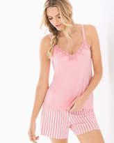 Soma Intimates Lace Trim Pajama Cami Pink Icing