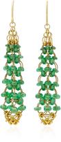 Mallary Marks Eiffel Tower 18K Gold Tsavorite Earrings