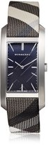 Burberry Women's Heritage Nova Multicolor Cloth Band Steel Case Swiss Quartz Silver-Tone Dial Watch BU9404