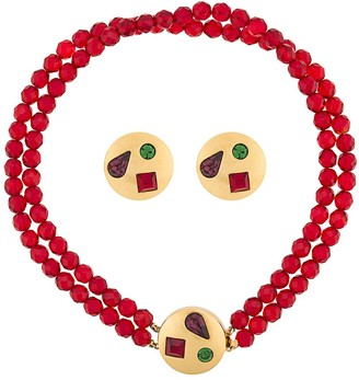 Givenchy Pre Owned 1980s Embellished Necklace And Earrings Set