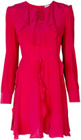 RED Valentino long-sleeved ruffle dress - women - Silk - 44