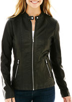 JCPenney A.N.A a.n.a Classic Scuba Faux-Leather Jacket