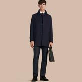 Burberry Cotton Gabardine Car Coat , Size: 54, Blue