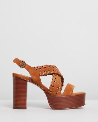 See by Chloe Eyelet Platform Heels
