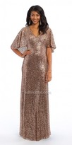 Camille La Vie Sequin Capelet Evening Dress