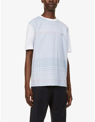 Lanvin Logo-embroidered cotton T-shirt
