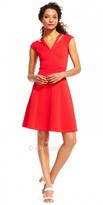 Adrianna Papell Double Neck Slit Cocktail Dress