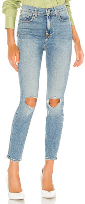 7 For All Mankind The High Waist Ankle Skinny With Destroy. - size 24 (also