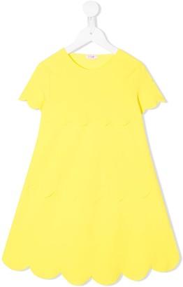 Il Gufo Scallop-Hem Flared Dress