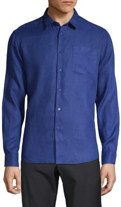 Vilebrequin Solid Linen Sport Shirt
