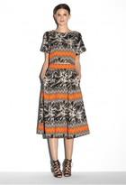 Milly Tropical Jacquard Lana 3/4 Skirt