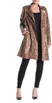 Blank NYC Blanknyc Denim Snake Embossed Faux Leather Trench Coat