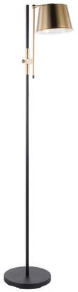 Lumisource Metric Floor Lamp, Black and Antique Brass