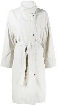 Brunello Cucinelli Belted Double-Breasted Coat