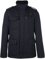Fay high neck zipped jacket - men - Polyester/Wool - S