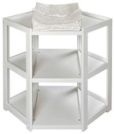 Badger Basket White Corner Baby Changing Table