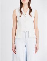 Aalto Cropped stretch-wool waistcoat