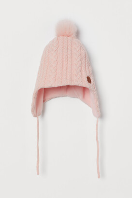 H&M Cable-knit Pompom Hat