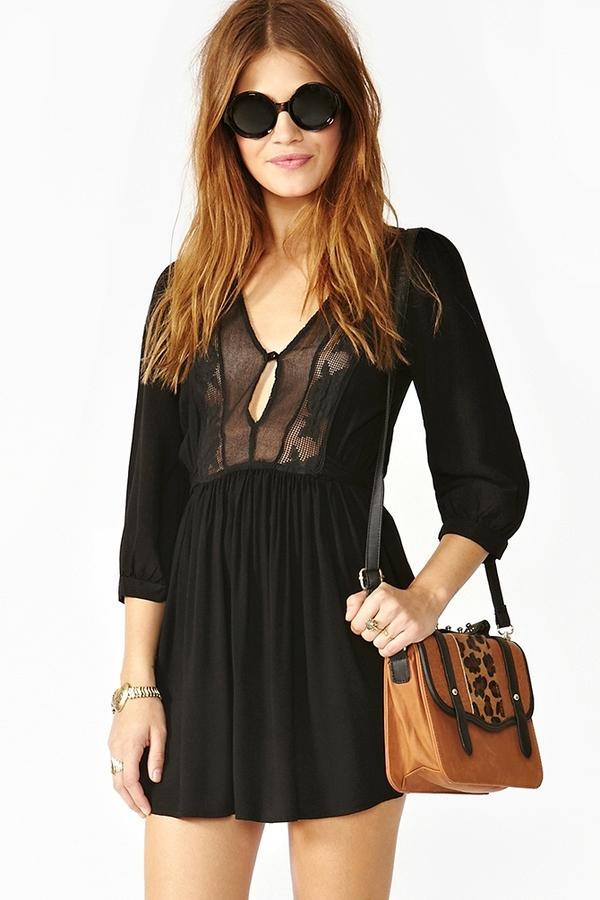 Nasty Gal Zeppelin Dress - Black
