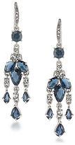 Carolee Silvertone Brass Mini Chandelier Earrings