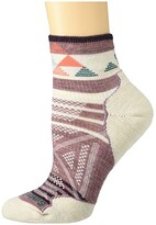 Smartwool PhD(r) Outdoor Light Pattern Mini (Nostalgia Rose) Women's Crew Cut Socks Shoes
