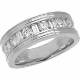 Amoro 18k White Gold Diamond Band (1.01 cttw, Color, SI2 Clarity)