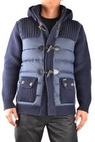 Bark Men's Blue Wool Outerwear Jacket.