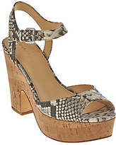 Marc Fisher As Is Leather Platform Sandals - Calia