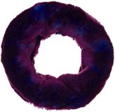 Albertus Swanepoel FAUX FUR ETERNITY SCARF-COLORLESS