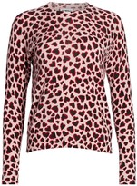 Heart-Print Cashmere Sweater