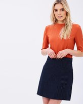 Dorothy Perkins Pleated High-Neck Top