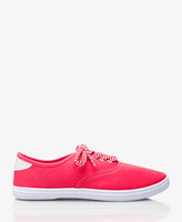 Forever 21 Striped Lace-Up Sneakers